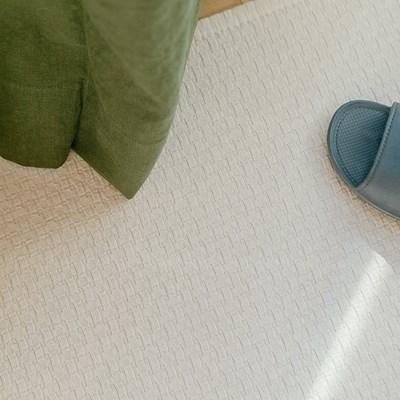 퓨어 체크 물세탁 사계절 피그먼트 발매트 주방매트 60X_(1816743)