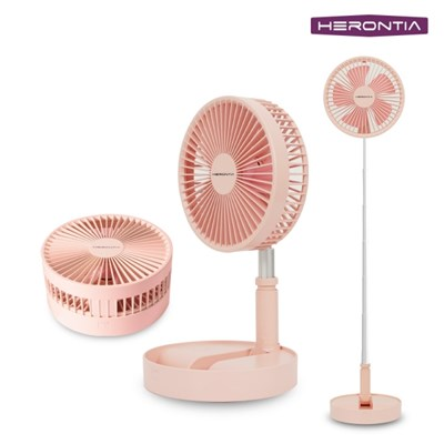 헤론티아 와이어리스 무선선풍기 / 7200mAh 4단조절 충전식 선풍기