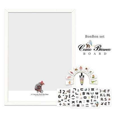 [꼬메모이]꼬모비앙코 레드햇베어 M 봉봉문자3종 세트 / 칠판 자석