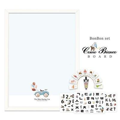 [꼬메모이]꼬모비앙코 스피드레이싱카 M 봉봉문자3종 세트 / 칠판