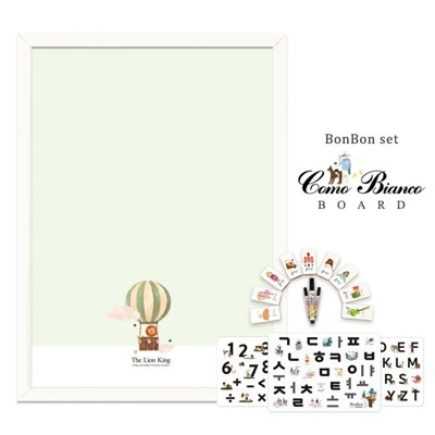 [꼬메모이]꼬모비앙코 정글의왕사자 M 봉봉문자3종 세트 / 칠판 자석
