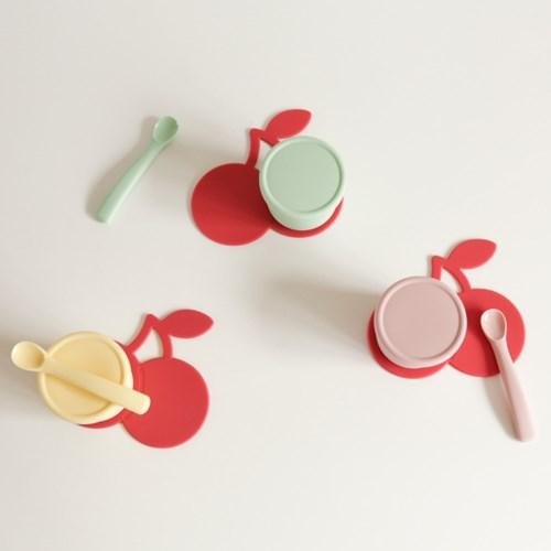 봉봉 이유식 매트 - 핑크 체리