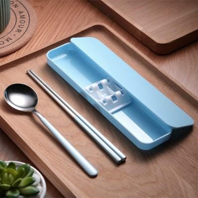 쿠킹홈 휴대용 수저 세트(블루)