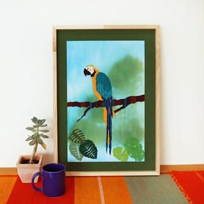 [패브릭피쉬] 액자 마코앵무새 A2 42x60
