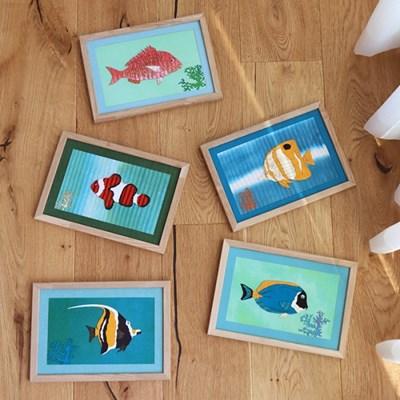 [패브릭피쉬] 액자 물고기 6종 시리즈 A4 30x21