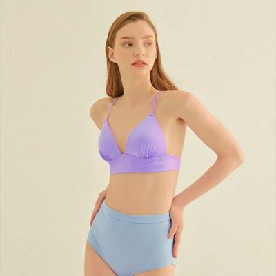 [비키니밴더]리비나 새틴 하이웨스트 비키니 - lavender