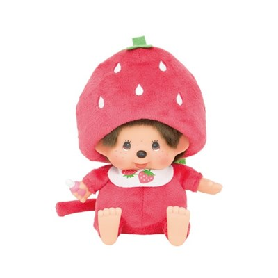 Strawberry Monchhichi Sitting S