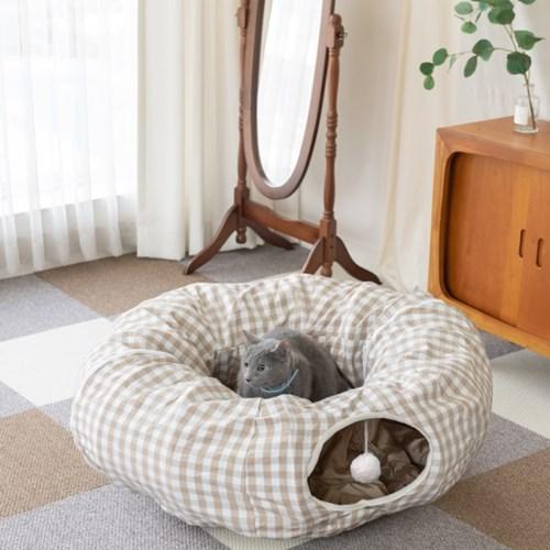고양이 숨숨 터널 하우스 장난감