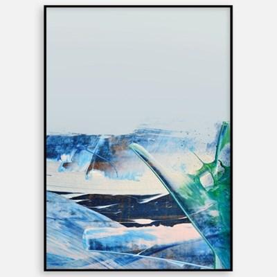 패브릭포스터 인테리어 그림액자 추상화 바다 풍경B