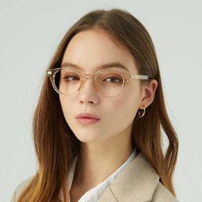 Wilde BROWN CRYSTAL 투명 뿔테 안경