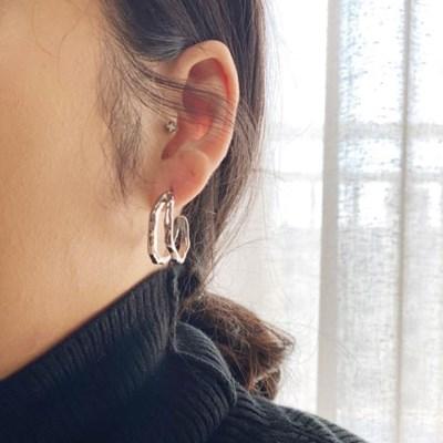 트윈 링 귀걸이