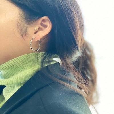트위스트 링 귀걸이 (2colors)