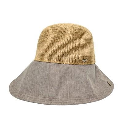 [플릭앤플록]ICP15.라운드챙 밀짚 여성 여름 모자