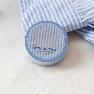 Oxford Shirt Masking Tape [Airy Blue]