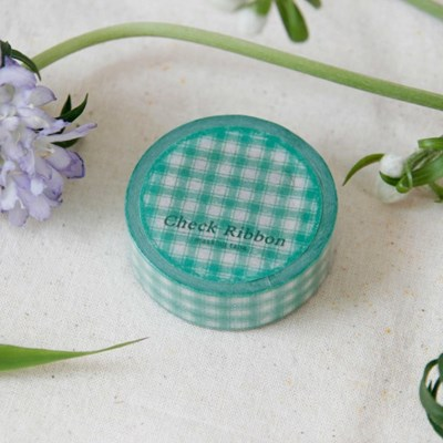 Check Ribbon Masking Tape [Emerald]