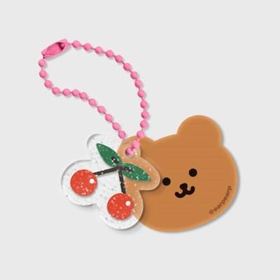 Dot cherry bear-세트(브라운 키링)_(1598208)