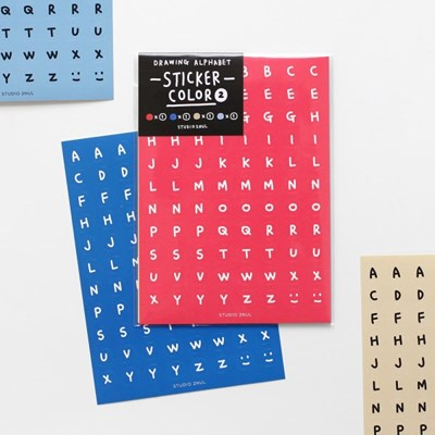 드로잉 알파벳 스티커 컬러 2
