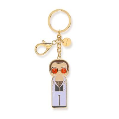 [Lucie Kaas] Key chain-Elton in white(엘튼 존-화이트)