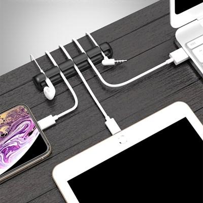 [1+1] USB 스마트폰 전선정리 케이블 슬롯(5단)