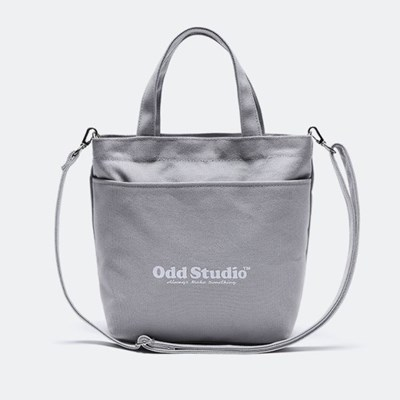 [스티커팩 증정] 오드스튜디오 볼드 로고 크로스백 - GRAY