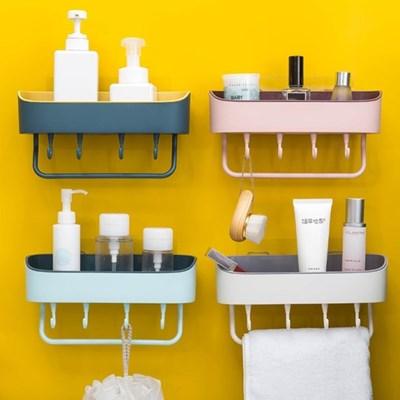 접착식 붙이는선반 욕실선반 욕실수납 파스텔 투톤 4color