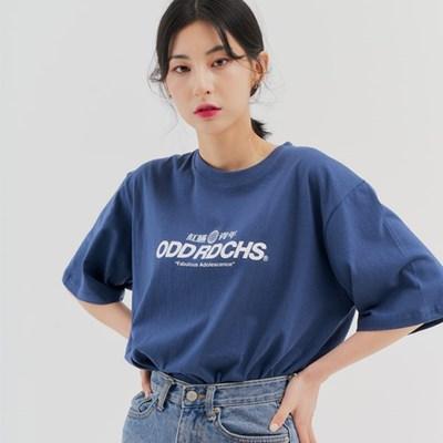 [스티커팩 증정] 오드 러디칙스 로고 티셔츠 - DUST BLUE