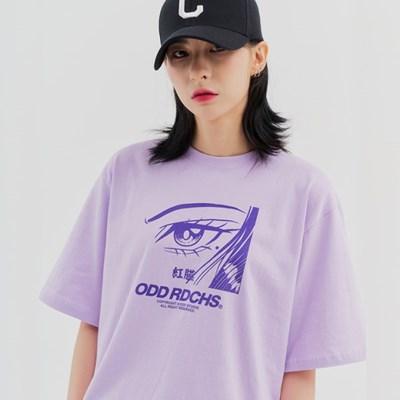 [스티커팩 증정] 페이스 티셔츠 - PURPLE