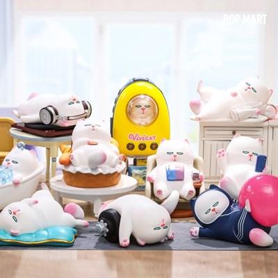 [팝마트코리아 정품 판매처] 비비캣-귀찮은고양이시리즈_박스