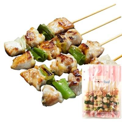 푸드맘 닭가슴살 파닭꼬치 간식음식 캠핑요리 70g 6개