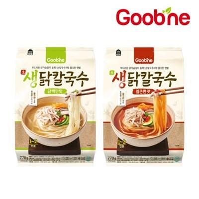 [굽네] 생닭칼국수 770g 1팩 골라담기 (담백한맛/얼큰한맛)