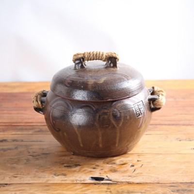 수공예 양 끈 옹기 항아리 4.5kg 소금항아리 현관소금
