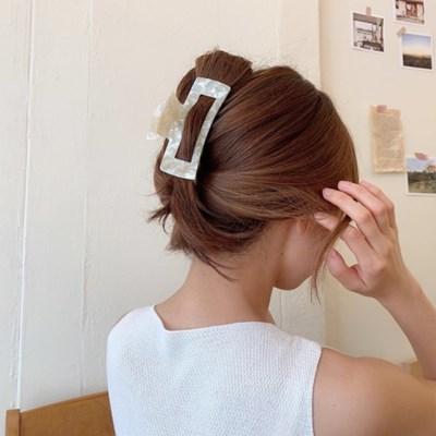 [12color] 영롱 마블 사각 집게핀 라지 사이즈_NEW 신상컬러 입고!