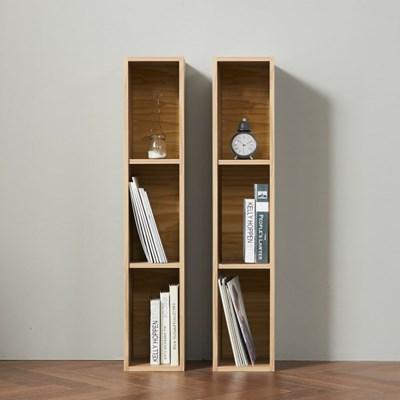 간편조립 DIY 슬림 3단책장 책꽂이 틈새수납장 2개세트