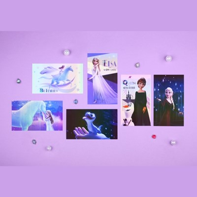 디즈니 겨울왕국2 홀로그램 엽서