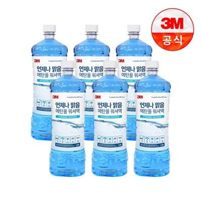 [3M]언제나 맑음 에탄올 사계절 워셔액 1.8L 6개_(2406785)