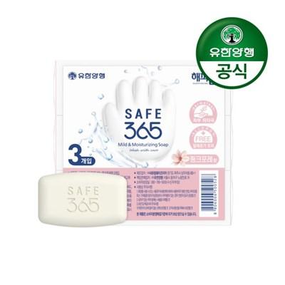 [유한양행]해피홈 SAFE365 비누 핑크포레향 (85g 3입) 1개