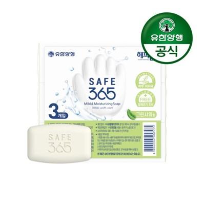 [유한양행]해피홈 SAFE365 비누 그린샤워향 (85g 3입) 1개