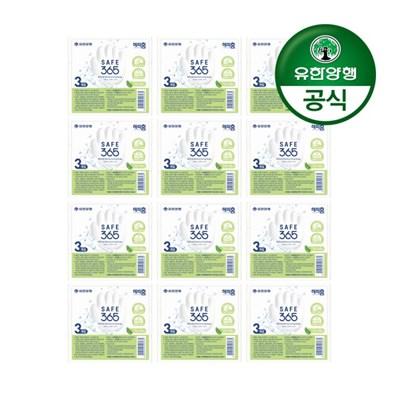 [유한양행]해피홈 SAFE365 비누 그린샤워향 (85g 3입) 12개(총36입)
