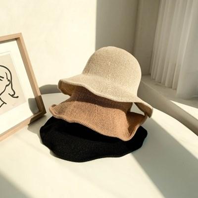 라탄 뒷트임 보넷 벙거지모자 3color