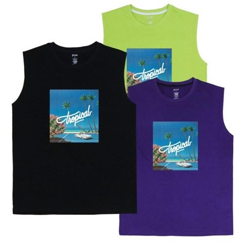 PRSN ARTWORK Sleeveless shirt N307