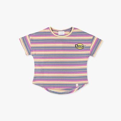 파스텔 단가라 아동 티셔츠 IC2CH600U