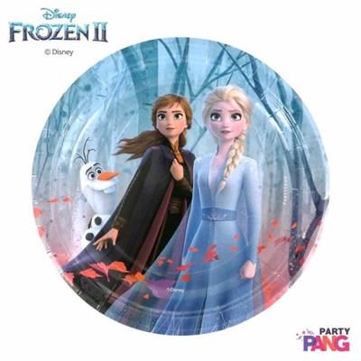 디즈니 겨울왕국 2_파티접시 18cm 6입 (안나, 엘사 & 올_(12058072)