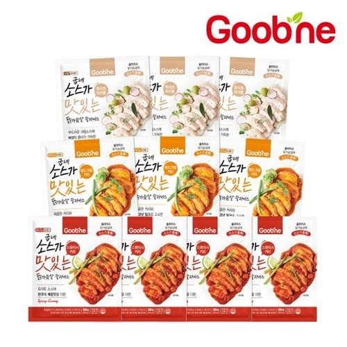 [굽네] 소스가 맛있는 닭가슴살 슬라이스 4종 10팩 골라담기