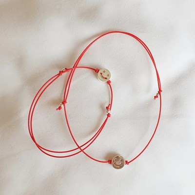 [Set] Smile Bracelet + Anklet - Silver925 ,파우치증정