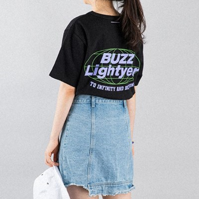 [디즈니] 레터링 티셔츠_버즈(블랙)