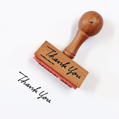 Vintage Handle Stamp - Thank You