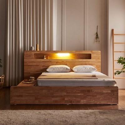 베로나 LED 원목 3단 수납 침대 LK(콤비 20T 펜타폼 7존 독립-LK)