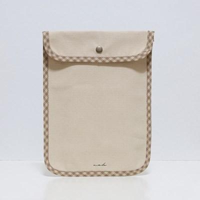 Signature tablet pouch - beige