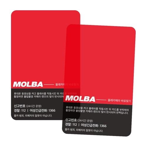 몰카탐지카드 MOLBA [몰바 몰래카메라 확인 찾기 감지기 필름]