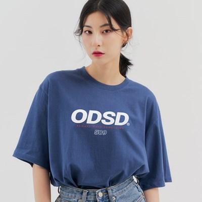 오드스튜디오 ODSD 로고 티셔츠 - DUST BLUE